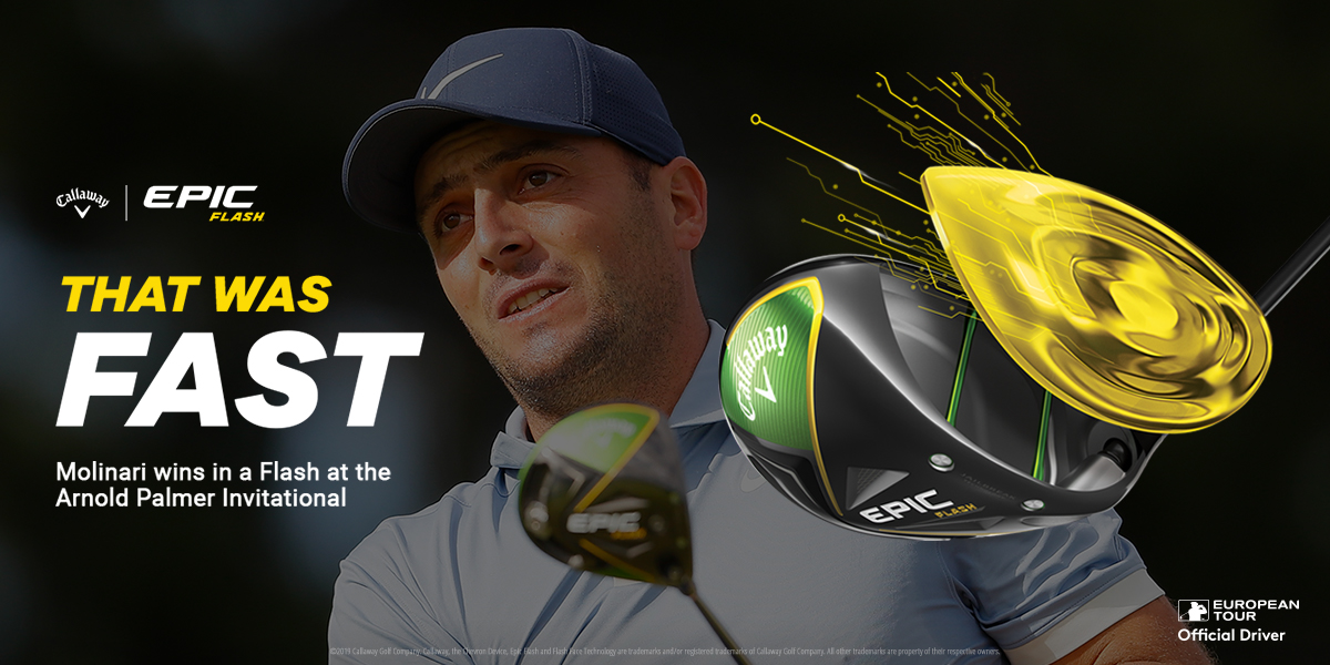 Molinari Bay Hill Invitational Epic Flash Driver - Golfgeardirect.co.uk