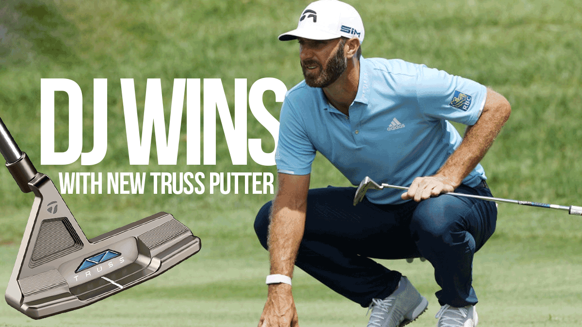 DUSTIN JOHNSON WINS TRAVELERS CHAMPIONSHIP USING TRUSS PUTTER